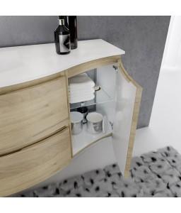 Composizione bagno in MDF + Specchio retroilluminato