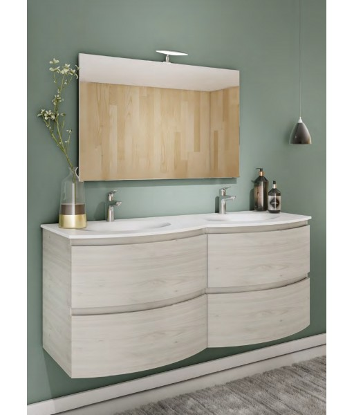 Mobile bagno con doppio lavabo + specchio