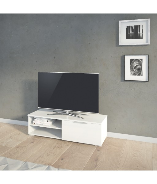 Porta TV Bianco laccato 1 Cassetto