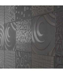 Madia 3 ante grigio serigrafato