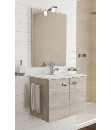 Arredo bagno  completo di mobile,lavabo,led,specchio,porta asciugamani