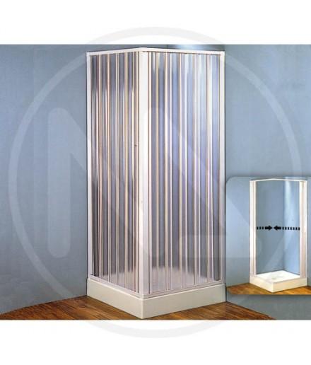 Box doccia 2 lati in resina con apertura centrale 80-60 x 80-60