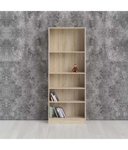 Libreria 5 piani Quercia