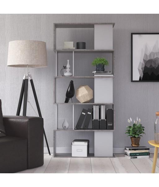 Libreria moderna Bianco / Cemento
