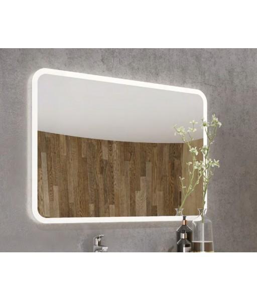 Specchiera retroilluminata led moderna 100 x 70