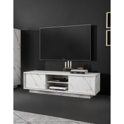 Base TV Marmo bianco