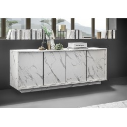 Madia 4 ante marmo bianco